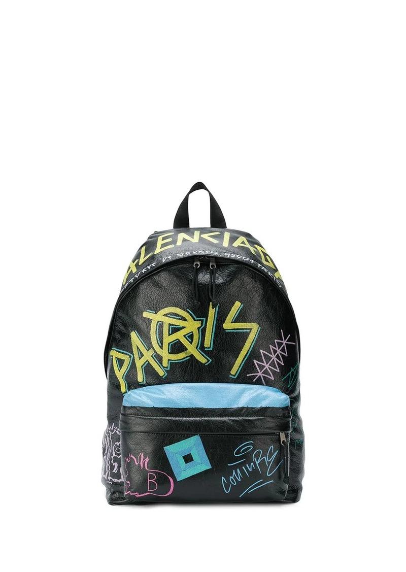 Balenciaga Explorer graffiti backpack