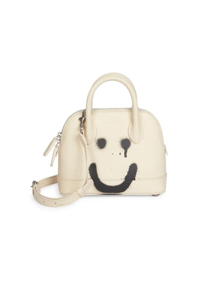 Balenciaga Extra Extra-Small Ville Smile Top Handle Leather Bag