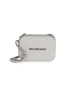 Balenciaga Extra-Small Everyday Glitter Leather Camera Bag