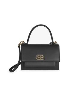 Balenciaga Extra-Small Sharp Leather Top Handle Satchel