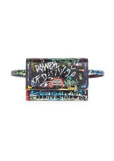 Balenciaga Extra-Small Sharp Graffiti Leather Belt Bag