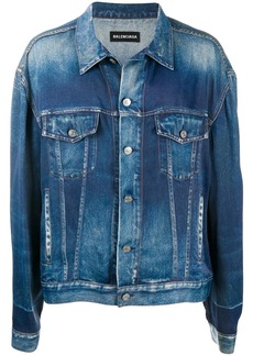 Balenciaga faded-effect denim jacket