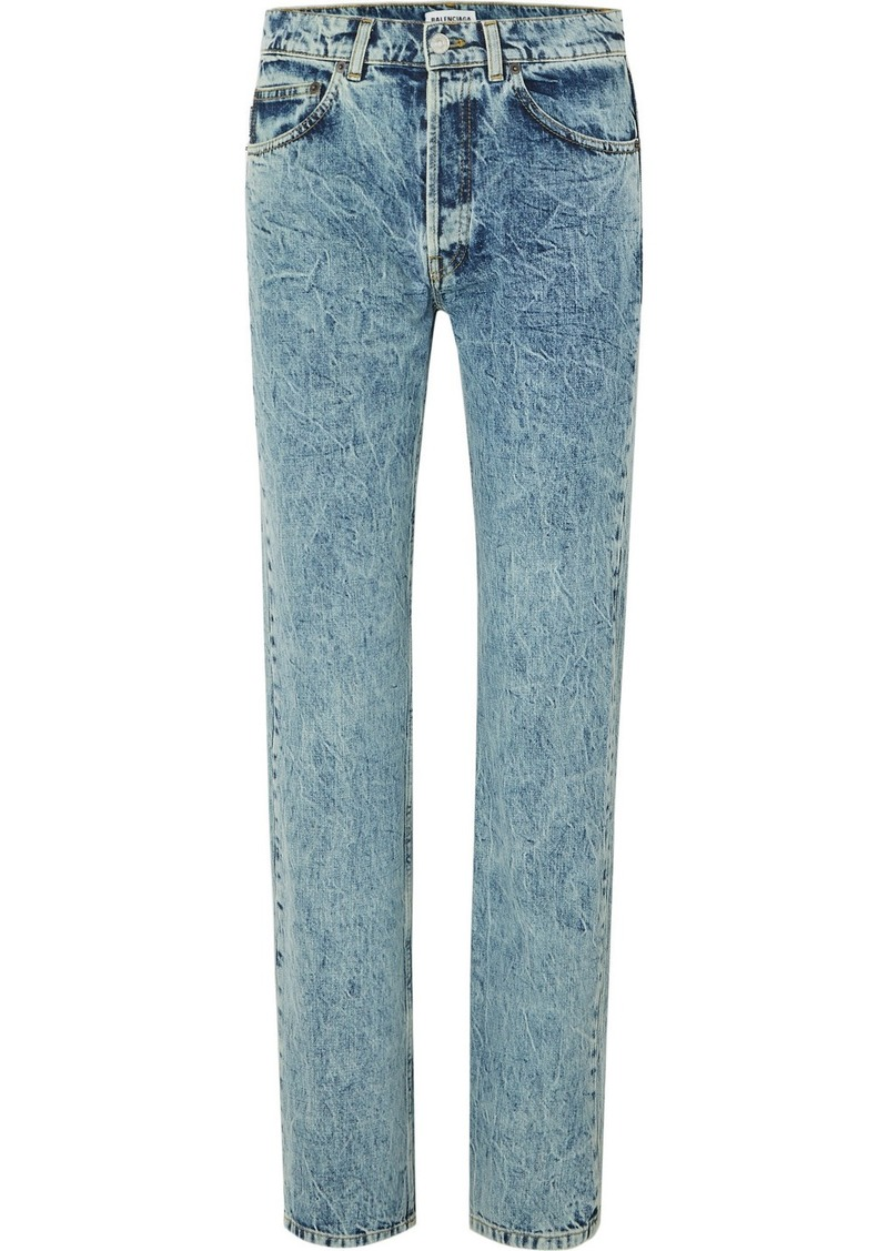 Balenciaga Faded High-rise Straight-leg Jeans