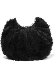 Balenciaga Faux Fur Clutch