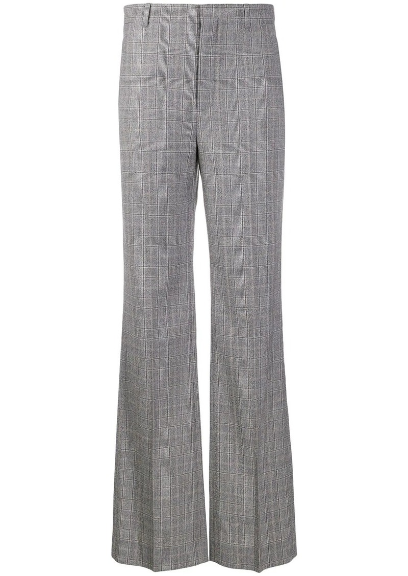 Balenciaga flared checked trousers