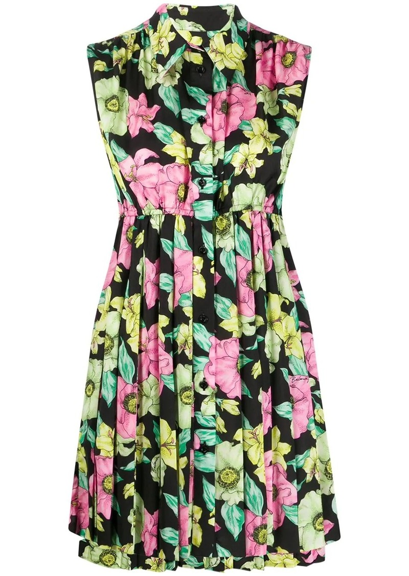 Balenciaga floral print baby doll dress