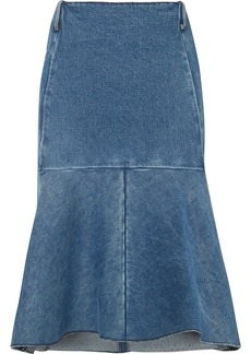 Balenciaga Fluted Denim Skirt
