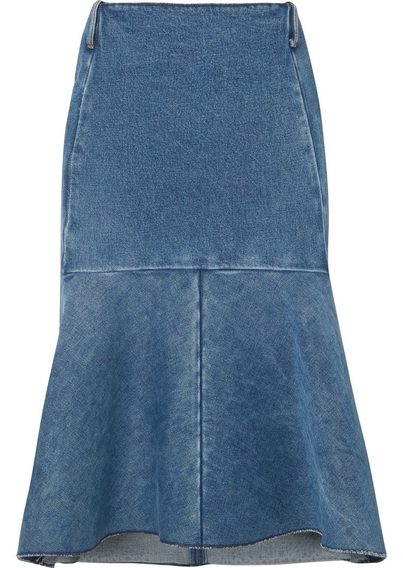 Balenciaga Fluted Denim Skirt