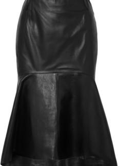 Balenciaga Fluted Leather Skirt
