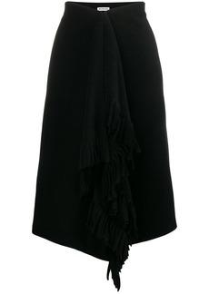 Balenciaga fringe detail knee length skirt