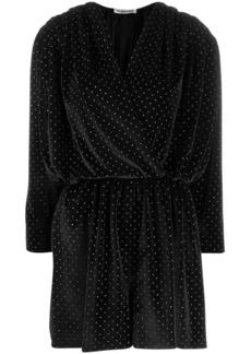 Balenciaga glitter detail wrap mini dress
