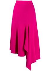 Balenciaga godet drape skirt