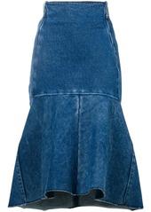 Balenciaga Godet peplum-style skirt