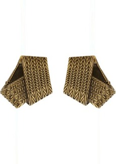 Balenciaga Gold Mesh Earrings