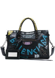 Balenciaga Graffiti City Small tote