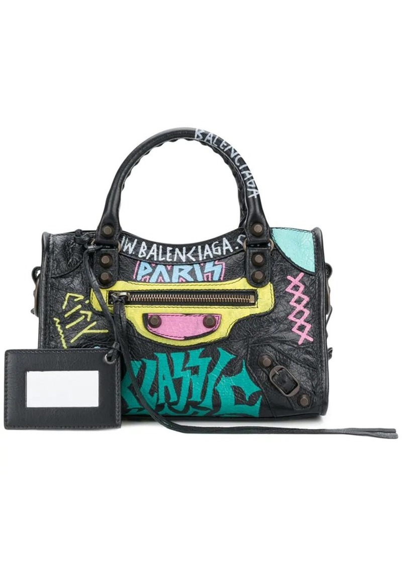 Balenciaga Graffiti Classic City Mini Leather bag