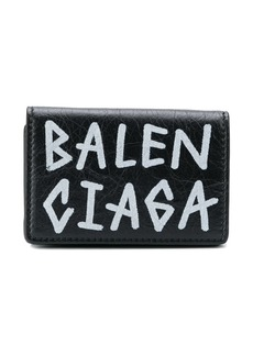 Balenciaga graffiti mini wallet