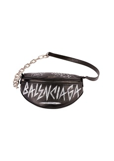 Balenciaga Graffiti-Print Fanny Belt Bag