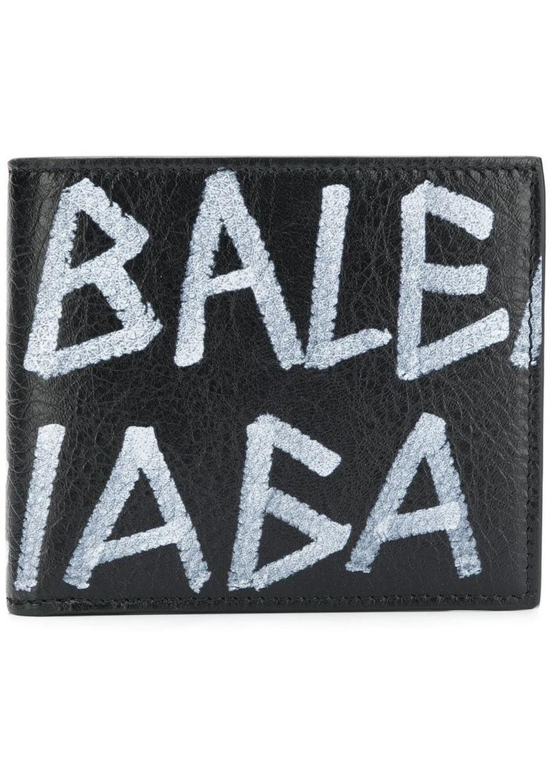 Balenciaga graffiti square wallet
