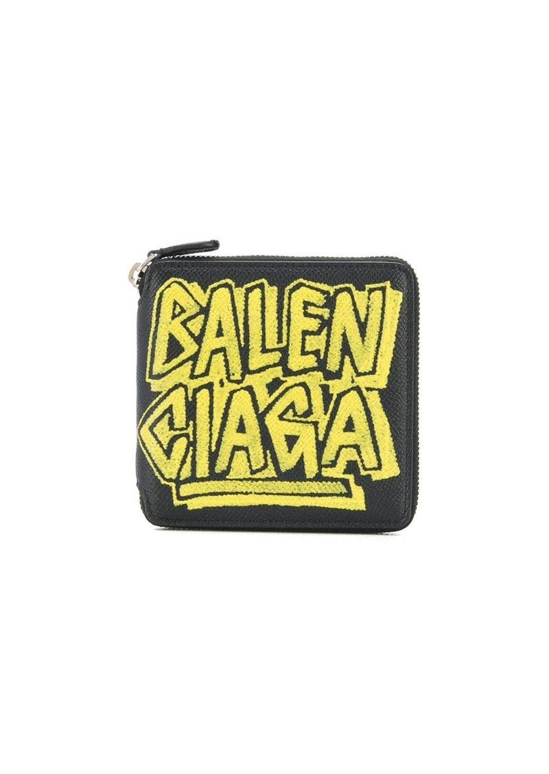 Balenciaga Graffiti Ville square wallet