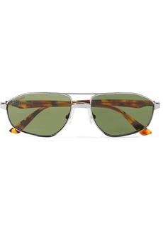 Balenciaga Vintage Aviator-style Silver-tone Sunglasses