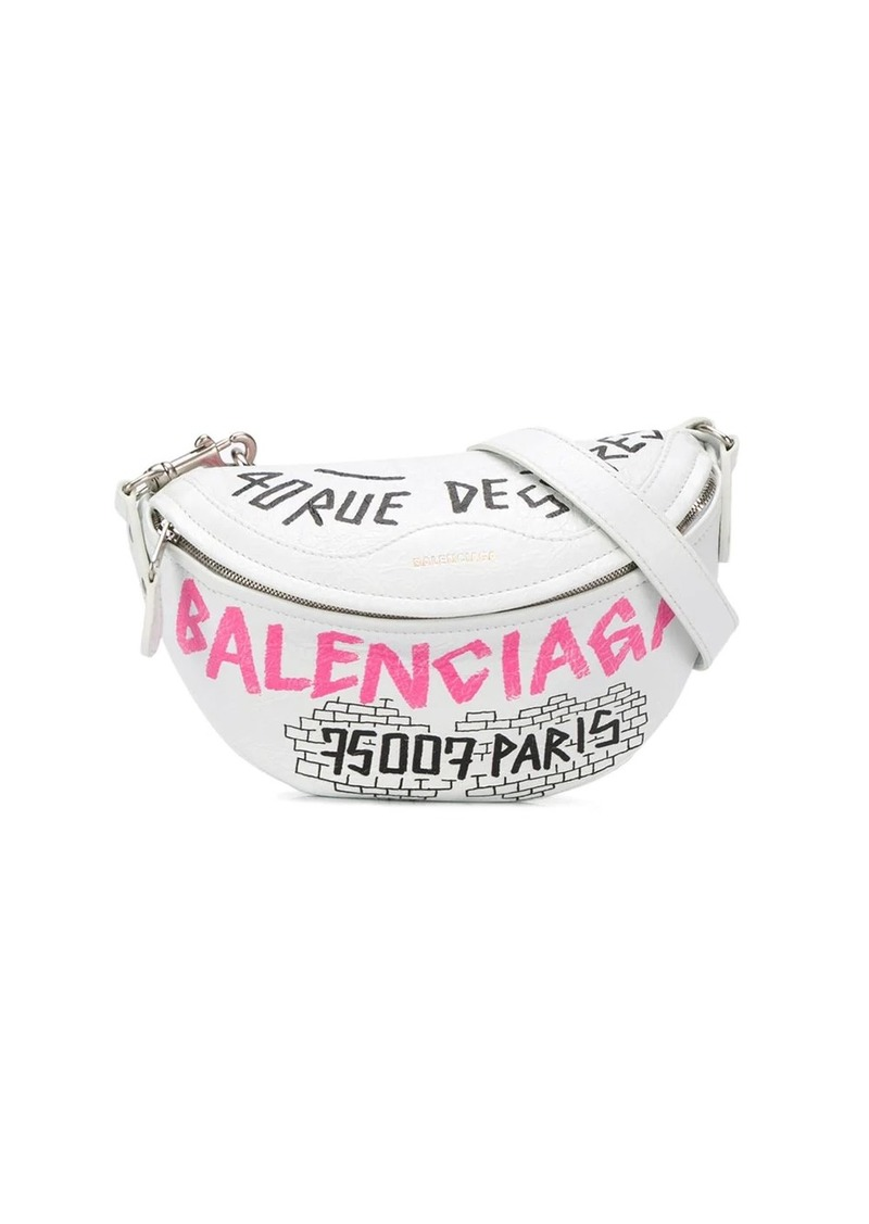 Balenciaga graphic print belt bag
