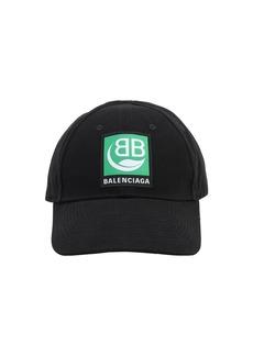 Balenciaga Green Logo Embroidery Bio Cotton Cap