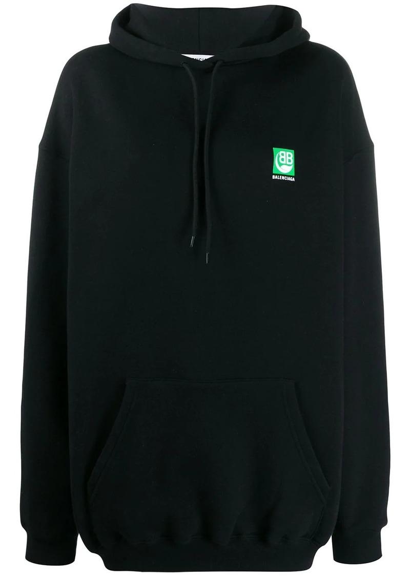 Balenciaga Green Logo hooded sweatshirt