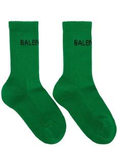 Balenciaga Green New Logo Tennis Socks