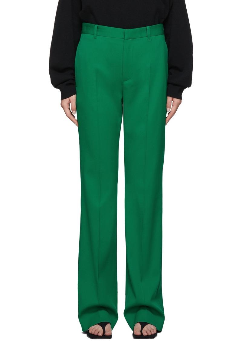 Balenciaga Green Wool Tailoring Trouser