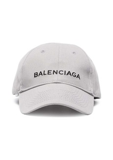 Balenciaga Grey cap with black logo