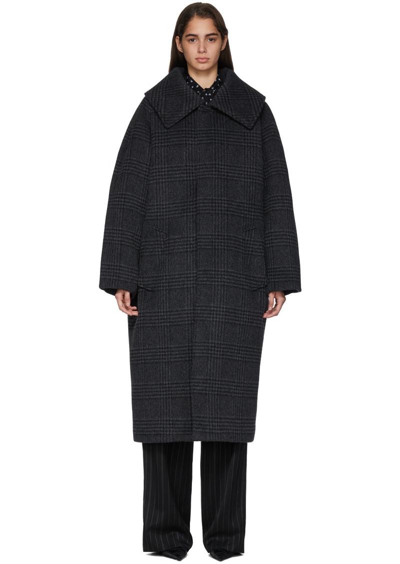 Balenciaga Grey Incognito Car Coat