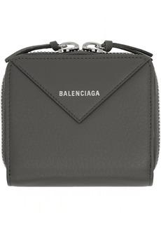 Balenciaga Grey Thin Papier Zip Wallet