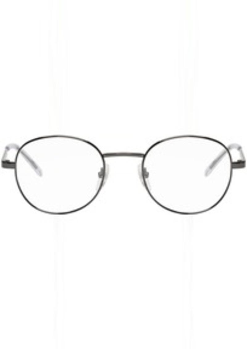Balenciaga Gunmetal Round Metal Glasses