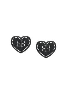 Balenciaga heart shaped earrings