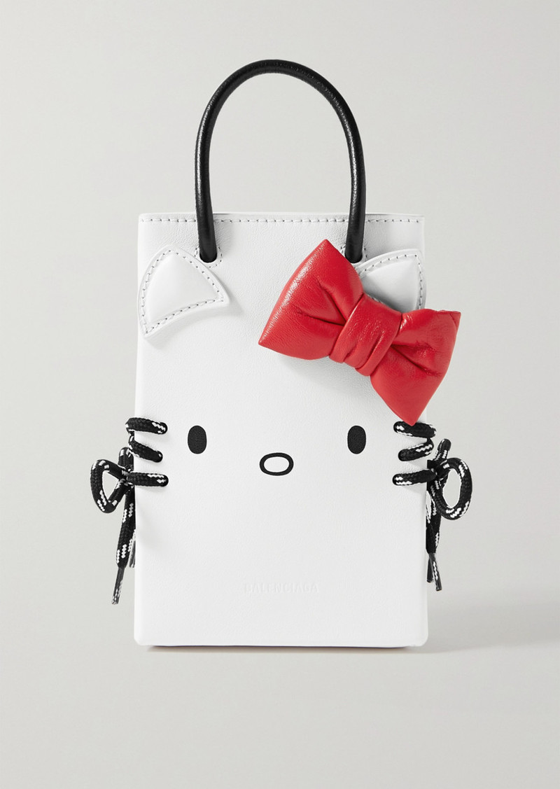Balenciaga Hello Kitty Mini Printed Leather Shoulder Bag