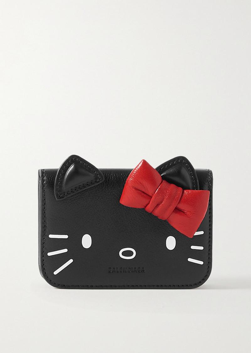 Balenciaga Hello Kitty Printed Leather Wallet