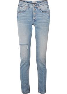 Balenciaga High-rise Distressed Slim-leg Jeans