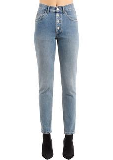 Balenciaga High Rise Tube Stone Wash Denim Jeans