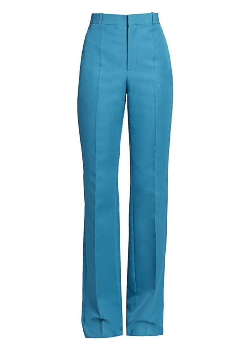 Balenciaga High-Waist Flat Front Pants