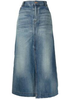 Balenciaga high-waisted denim skirt
