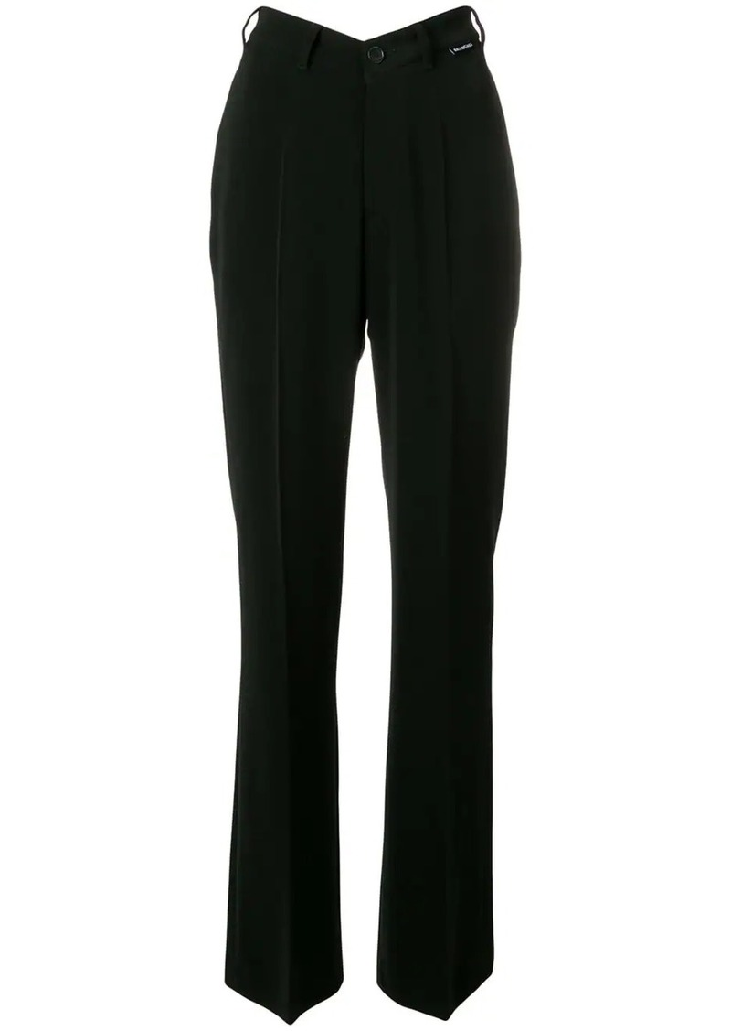Balenciaga high waisted straight leg cotton trousers