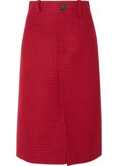 Balenciaga Houndstooth Wool Skirt