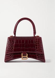 Balenciaga Hourglass Croc-effect Leather Tote