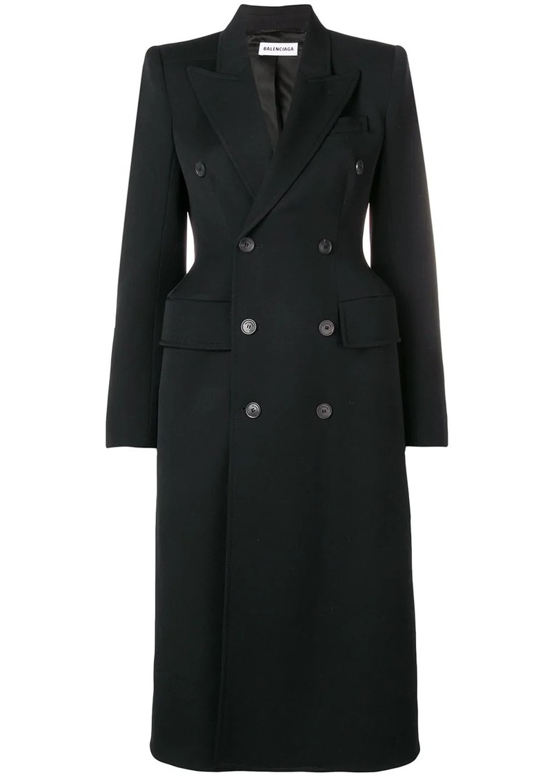 Balenciaga hourglass double-breasted coat