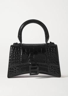Balenciaga Hourglass Mini Croc-effect Leather Tote