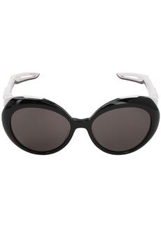 Balenciaga Hybrid Butterfly Round Shiny Sunglasses