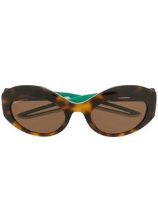 Balenciaga Hybrid oval sunglasses