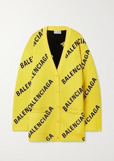 Balenciaga Intarsia Cotton-blend Cardigan