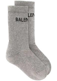 Balenciaga intarsia knit logo socks